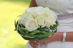 Wedding bouquet white roses