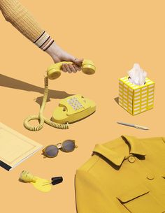 art direction | yellow monochromatic still life styling - Jenny Wichman