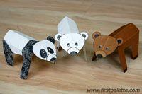 Folding paper bear