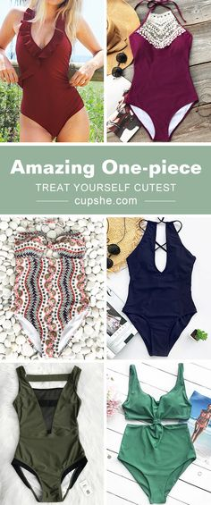 Treat Yourself to Something Special. Walk or sit down nearby the beach, one-piece bikinis are perfect. You need a delicate bikini like these. Enjoy a fun summer leave by wearing one of them. Be stunning and hot this season. Shop Now.