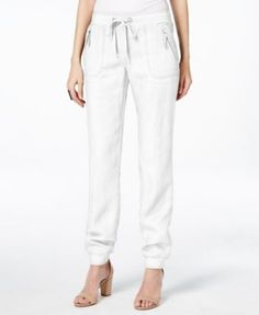 INC International Concepts Linen Drawstring Pants, Only at Macy's