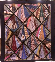 tie quilts patterns | men s tie quilt this quilt was hand made with some machine work in the ...