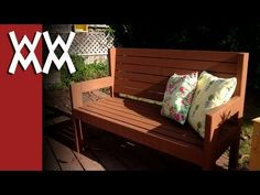 Here's a really easy park bench you can make in a weekend. I built it just using 2x4s and 1x3 lumber.     Here is a rough diagram of the bench dimensions.  http://i862.photobucket.com/albums/ab185/zrammedia/benchdims.jpg