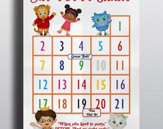 httpomgtheresthreecomdaniel tiger potty chart party and gift ideas pinterest daniel tiger tigers and chart