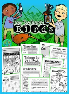 New Zealand's Birds {Fun & facts about Aotearoa's amazing birds} – Kiwi Bird Bloğ Birds For Kids, Art For Kids, Crafts For Kids, Early Finishers Activities, Kiwi Bird, Nz Art, Writing Activities, Reading Resources, Bird Houses Painted