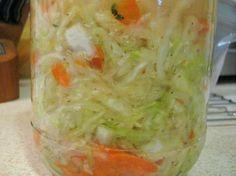 Sauerkraut with carrots, onion, horseradish, ginger and turnip