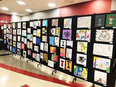 School Art Showcase | Screenflex Portable Room Dividers