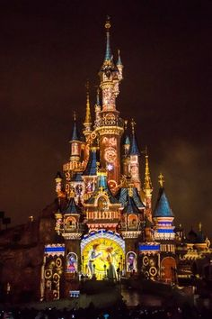 Sleeping Beauty's castle in Disney Land Paris