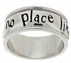 Wizard of Oz  There's no place like Home  Band Ring and I'm from KS! I need it