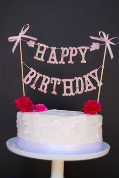 CAKE BANNER Happy Birthday by bluembellish on Etsy