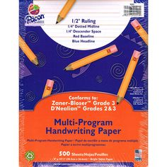 WRITING PAPER 500 SHT 8X10.5 1/2 IN