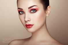Beautiful woman face by heckmannoleg