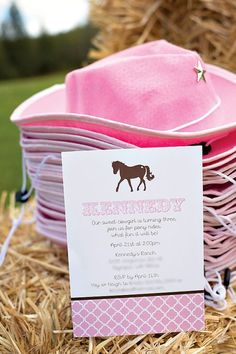 Saddle up for a pink and brown pony party that any girl would love! Pony cake pops, pony rides, cowgirl hats and adorable décor make this one cute pony party! Horse Theme Birthday Party, 5th Birthday Party Ideas, Cowgirl Birthday, Farm Birthday, Ideas Party, Girl Horse Party, Third Birthday, Horse Girl, Birthday Bash