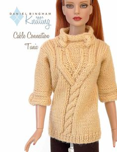 Knitting pattern for 16 inch fashion dolls: door DBDollPatterns