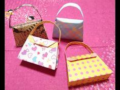【実用使い】折り紙でハンドバッグの形をしたギフトバッグ - YouTube