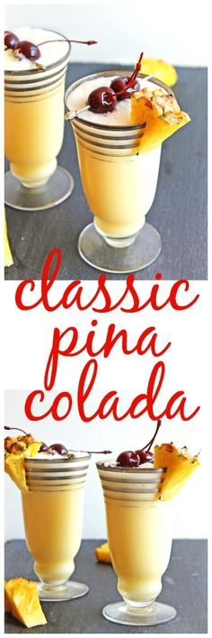Summer in a glass! This classic pina colada is a Caribbean favorite. Pineapple juice, rum, coconut cream, and ice are all you need to make this at home!