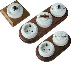 Interruptor de porcelana superficie modular retro interruptores porcelana mecanismos - Interruptores clasicos ...