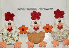 Resultado de imagem para dona galinha patchwork