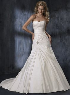 Gorgeous Strapless A-line Chapel Train bridal gowns,wedding dresses online,wedding dresses online,wedding dresses online