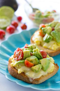 eggs and avocado slices on toast poached egg on toast scrambled eggs ...