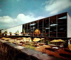 Centro de Prensa, Villa Olímpica, av. Insurgentes Sur, Tlalpan, México DF 1968   Arq. David Muñoz Suárez -  Press Center, Olympic Village, Tlalpan, Mexico City 1968
