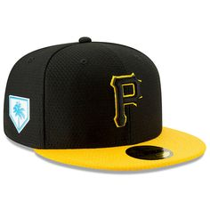a30350b7b4151 Men's Pittsburgh Pirates New Era Black/Yellow 2019 Spring Training 59FIFTY  Fitted Hat, $39.99