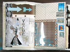 Beautiful 'remains of the day' journal - similar to the new smash book albums that peope are making their own versions of