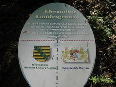 Kennzeichnung der ehemaligen Grenze Königsberg in Bayern im Mai 2016