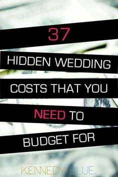 Don't get caught up by surprise fees! Check out these 37 hidden wedding costs you need to plan for!