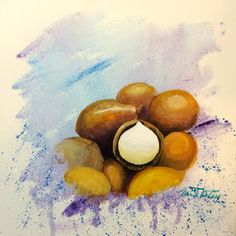 Minnie Valero: MACADAMIA NUT, acrylic on canvas, drought tolerant...