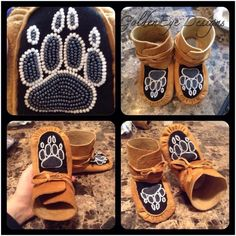 Ideas Design Banner Patterns For 2019 Native American Crafts, Native American Beadwork, Baby Moccasin Pattern, Beaded Moccasins, Baby Moccasins, Beaded Banners, Beadwork Designs, Indian Crafts, Nativity Crafts