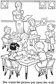 Free coloring pages about family that you can print out for your kids Free Kids Coloring Pages, School Coloring Pages, Coloring Book Pages, Free Coloring, Coloring Sheets, Coloring Pages For Kids, Art Drawings For Kids, Drawing For Kids, Vintage Coloring Books