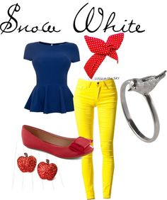 My little sister makes awesome modern day outfits inspired by Disney characters on Polyvore. Check em out! katie-rinker.polyvore.com