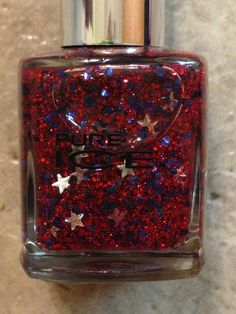 NEW PURE ICE NAIL POLISH FREEDOM RED BLUE SILVER FULL SIZE FOURTH JULY PATRIOTIC