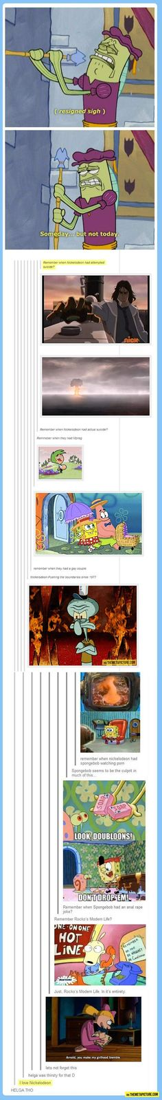 The secret side of Nickelodeon…oh geez. Right in the childhood LOL