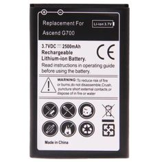 2500mAh+Replacement+Battery+for+Huawei+Ascend+G700