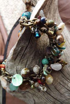 Semi Precious Stone Bracelet Dangles by MeLadyJewelry on Etsy, $24.99