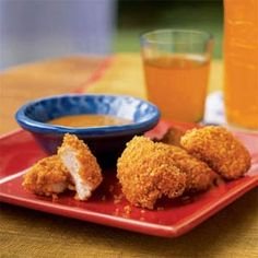 Chicken Nuggets with Mustard Dipping Sauce   MyRecipes.com #myplate #protein