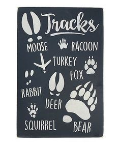 Another great find 'Tracks' Wall Sign Cabin home décor is cute trendy and fun to decorate with. You can create a cozy cabin with the right cabin inspired decorative accents. For example, placing a cabin wall sign or cabin wall art in a room can make a room feel cozy and inviting. You can combine this type of décor with other rustic home décor to create a truly log cabin feeling.