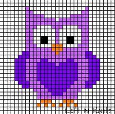 Cross Stitch Owl, Cross Stitch For Kids, Simple Cross Stitch, Cross Stitch Animals, Cross Stitch Charts, Cross Stitch Designs, Cross Stitching, Cross Stitch Embroidery, Cross Stitch Patterns