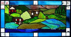Custom Made Celebration Stained Glass Window