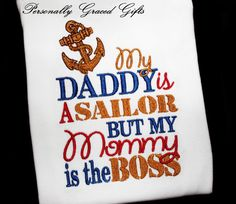 Hey, I found this really awesome Etsy listing at https://www.etsy.com/listing/175658493/military-usn-navy-my-daddy-is-a-sailor