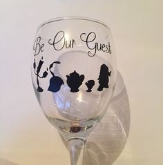 Beauty And The Beast Polymer Clay Moulded Wine Glass Disney Cups - Vinyl decals for wine glasses uk