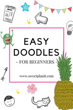 Drawing Doodles Sketchbooks Easy Doodles for Beginners! Anyone can draw these cute doodles, perfect for adding to you bullet journal, notebook, or planner. Doodle Art For Beginners, Easy Drawings For Beginners, Doodle Art Letters, Doodle Art Journals, Simple Doodles, Cute Doodles, Grammar School, Bullet Journal Icons, Bullet Journals