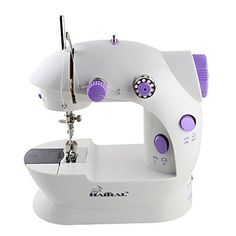 Sewing Machine Mini 2Speed Double Thread Double Speed Portable Sewing Machine With Light and CutterWhitePurple >>> Be sure to check out this awesome product.