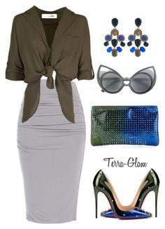 """Fall Involved"" by terra-glam ❤ liked on Polyvore featuring Mode, Christian Louboutin, Oscar de la Renta und Linda Farrow"