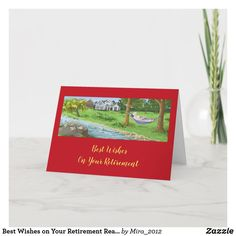 Best Wishes on Your Retirement Reading in Hammock Card #personalizedretirementgifts #personalizedretirementcards #happyretirement #happyretirementgifts #retirement Happy Retirement Cards, Personalized Retirement Gifts, Retirement Wishes, Garden Hammock, Plant Design, Card Reading, Water Lilies, Custom Greeting Cards, Thoughtful Gifts