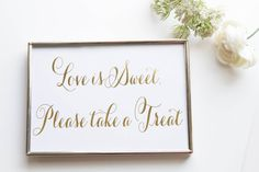 Our gold foil (not a digital printed effect) wedding signs are an amazing way to bring a little sparkle to your wedding ceremony and reception.…