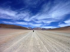 Traveling between deserts and stars.  #Bolivia #Desert #Bike