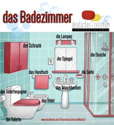 Badezimmer Deutsch Wortschatz Grammatik Alemán German DAF Vocabulario